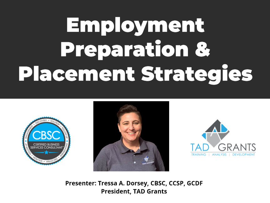 Employment Preparation and Placement Strategies