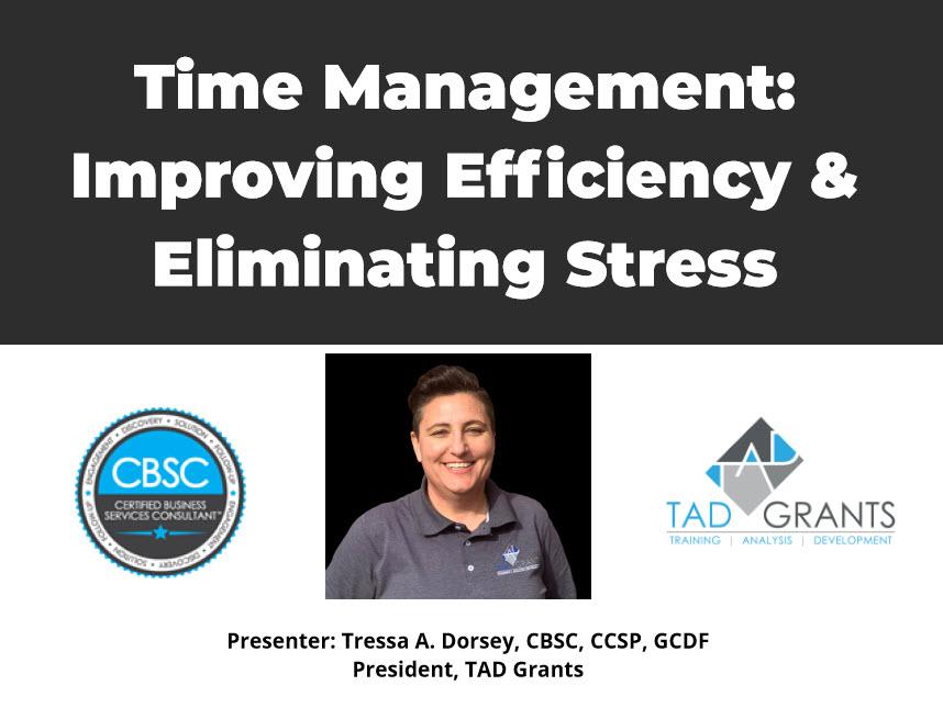 Time Management: Improving Efficiency & Eliminating Stress