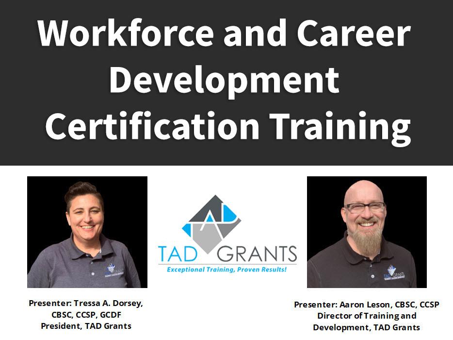 Workforce and Career Development Certification Training